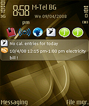 Symbian Bronze Cubic theme by Taieb freeware