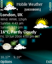 Symbian Mobile Weather for S60 Third Edition Smartphones freeware