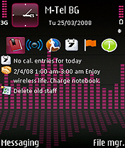 Symbian Pink Equalizer by Taieb freeware