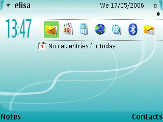 New Turquoise theme for Nokia s60