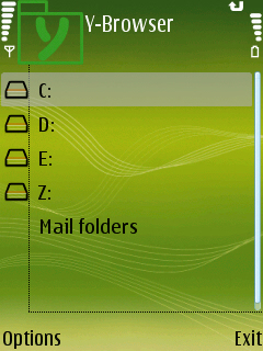 YBrowser Main - Y-browser - Free File Explorer For Nokia and Symbi