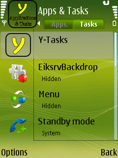 Y-tasks for Symbian