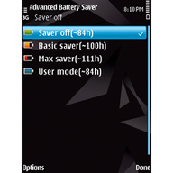 Symbian Advanced Battery Saver Free freeware