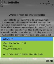 Symbian AutoHello freeware