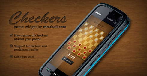 Free Checkers game for Nokia 5800 and N97