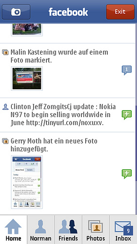 Symbian Facebook freeware