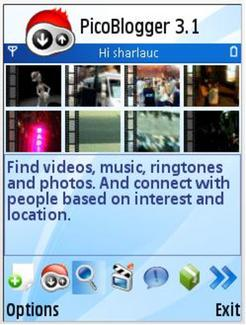 PicoBlogger 3.1 (2006)  / Mobile community the way it should be