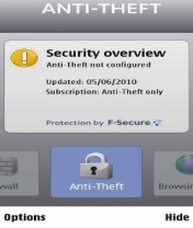 Symbian F-secure Anti-Theft freeware