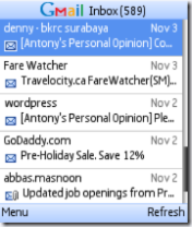 Symbian Gmail app freeware