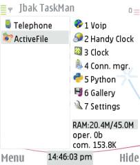 Symbian Jbak TaskMan  freeware