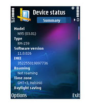 Symbian Nokia Device Status v1.1.2 freeware