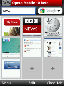 Symbian Opera Mobile 10 Beta freeware