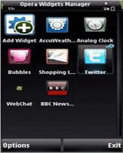 Symbian Opera Widget Manager for Nokia 5800 XpressMusic freeware