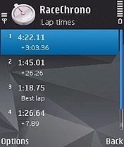 Symbian RaceChrono freeware