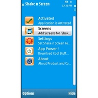 Symbian Shake n Screen Free freeware