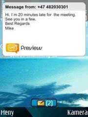 Symbian Sms Preview freeware