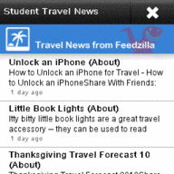 Symbian Student Travel News freeware