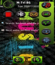 Symbian Music in Colors Theme freeware