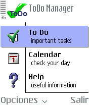 Symbian ToDo Manager v0.7 freeware