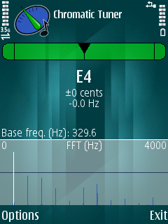 Symbian Chromatic Tuner freeware