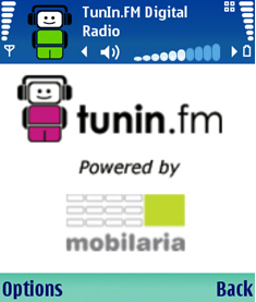 Symbian Tunein.FM online radio s60 freeware