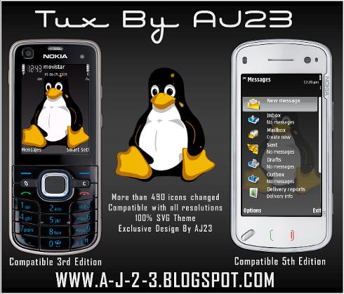 Symbian Tux Theme freeware