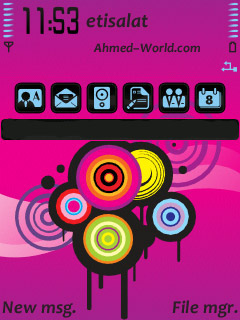 Symbian Pink Vector Theme freeware