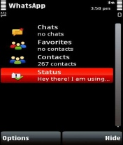 Symbian WhatsApp Messenger freeware