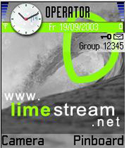 Symbian **FREE**  LIMESTREAM  THEME freeware