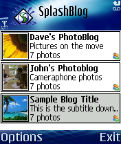 SplashBlog for Series 60