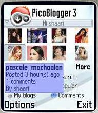 Symbian PicoBlogger 3.0 (2006)  / Mobile community the way it should be freeware
