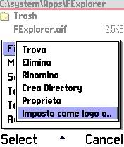 Symbian FileExplorer 1.15 (Italian version) freeware