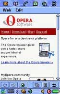Opera Browser for Sony Ericsson P800/P900